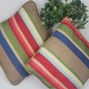 Boho stripped 2 piece pillows